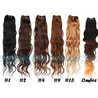 """12""""-28"""" Remy Brazilian Virgin Wave 100% Real Human Hair 50g Weft Extensions"""