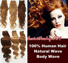 """Brazilian Natural Wave /Body Wave Human Hair Weaving Weft Extensions 16""""18""""20"""""""
