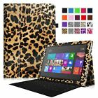 For Microsoft Surface Tablet Folio Stand PU Leather Case Cover w/ Stylus Holder