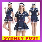 Navy Sailor Girl Uniform Rockabilly Retro Pin Up Fancy Dress Halloween Costume