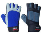 Mens Weight Lifting Body Building Gloves Gym Straps Leather Training Gloves