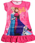 Disney Elsa Anna Olaf Children Kids Pyjama Girls Sleepwear Dress Hot Pink 3-10Yr