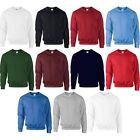 Men Adult Gildan DryBlend Cotton Polyester Plain Colour Crew Neck Sweatshirt Top
