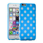 Polka Dot Glossy Soft Silicone Gel Shell TPU Case Cover Skin for iPhone 6Plus