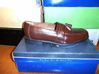 NUNN BUSH NORWOOD LOAFERS,  BROWN (COGNAC) LEATHER, TASSLED,   NEW