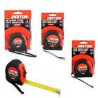 5, 7.5 & 10 M  MTR METRIC ONLY HARD PLASTIC CASE TAPE MEASURE (NO FEET & INCHES)