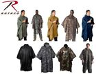 Camouflage & Solids Rip-Stop Military Ponchos Waterproof Hooded Ponchos
