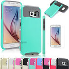 Hybrid Rugged Rubber Slim Protective Hard Case Cover For Samsung Galaxy S6 +Film