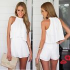 Women Summer Halter Chiffon Sleeveless Sexy Two Piece Casual Dress Reliable