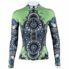 2015 New Green gown Women's Cycling Clothing Long Sleeve Bike Bicycle Jersey Top