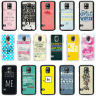 Sayings Quotes Case Cover for Samsung S3 S4 S5 Mini - 33