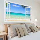 Huge 3d Window Exotic Beach View Wall Stickers, Wall Mural, Wall Decals