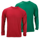 Adidas Men's Long Sleeve Climalite Shirt - Red and Green