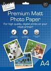100 X A4 MATT PRINTER HIGH QUALITY 210GSM WHITE PHOTO PAPER INKJET