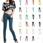 Ladies Candy Color Jeans Chinos Casual Slim cut Stretch Jeggings AU sz 6 8 10