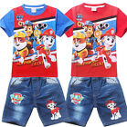 NWT Kids Boys Girls Paw Patrol Outfits T-Shirts+Jeans Shorts Unisex Suits 3-7Yrs
