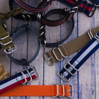 PREMIUM 5 RING SS PVD HEAVY NATO Ballistic Nylon Military  Watch Strap Band image