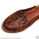 Hand Tooled Leather Brown Mules Shoes Size 6, 7