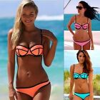 Women Sexy Bikini Set Bandeau Triangle Push-Up Bra Swimsuit Beachwear Swimwear