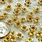 Brass Filigree Flower Beadcaps holes-on-petals 6.5mm bf20 PICK
