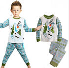 "NWT Xmas Gift Kids Boys Girls Suit Sleepwear ""Frozen Olaf ""Homewear Pajama Set"