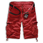 New Hot Mens Casual Military Army Cargo Combat Work Shorts Pants Loose Trousers