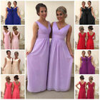 2 Shoulder Wedding Bridesmaid Evening Formal Chiffon Prom Dress Plus Size Ella