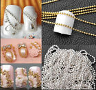 Actual Value Nail Tips 3D Stickers Metal Glitter Striping Ball Beads Chain MWUK
