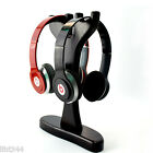 Buckhorn Shaped Wooden Holder Display Stand for Dual Headphone Headset Universal