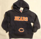 NFL Team Apparel Chicago Bears Licensed Kids Hoodie Choice 2T or 12 Months NWT