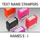 KIDS TEXT PLASTIC NAME STAMPERS *SELECT A NAME E - I* BOXER GIFTS BRAND NEW