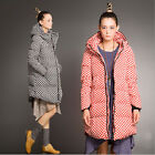 Feature NEW Lady Duck Down Coat Polka Dot Parkas Large Size Sleeve Jacket TBUS