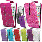 Bling Diamond Flip Leather Case Diamante Cover For Samsung Galaxy Various Phones