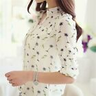 2015 Fashion Women Chiffon Long Sleeve Button Down Shirt Casual Blouse Tops - LD