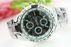 2014 Classical Mens Stainless Steel Quartz Analog Hand Sport Wrist Watch YGEW
