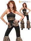 Ladies Dancing Disco Retro Super Trooper Costume 70s 1970s Fancy Dress Outfit