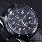 Fashion Black UNISEX Stainless Steel Luxury Sport Analog Quartz Mens Wrist Watch