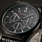 CURREN Casual Date Analog Stainless Steel Quartz Wrist Men Army Sport Watch