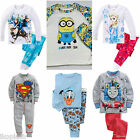 Kids Girls Boys Frozen Elsa Sleepwear Cotton Top Bottoms Pyjama Set 18m 5-7 year