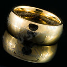 8MM Gold Silver Black Lord of The Rings HOBBIT Tungsten Carbide Band Mens Ring