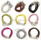 Wholesale 5/10pcs Man-made Leather Braid Rope Hemp Cord Necklace For DIY 3mm New