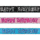 9ft Sparkle Happy Birthday Party Prismatic Foil Banner Decorations