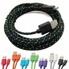 Hemp Rope Micro USB Charger Charging Sync Data Cable Cord For Cell Phone 3M/10FT