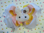 Easter Bunny Furry Hair Bow White Toddler Baby Headband