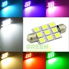2X 41MM 5050 LED 9 SMD MULTI-COLOR for car Festoon Dome Interior Light Bulb Lamp