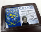 Resident Evil Stars RACCOON Badge DEP Leather Card ID Wallet Holder