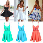 Sexy Cocktail Short Mini Dress Summer Ladies Sleeveless Party Evening Beach Club
