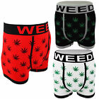 GANJA MARIJUANA WEED LEAF Boxer Shorts Briefs Trunks Underwear 1 - 2 - 3 Pack