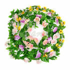 8.2ft Artificial Silk Rose Flower Ivy Vine Leaf Garland Wedding Party Home Decor