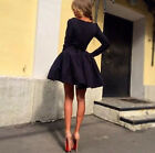 Women Dress Ladies Skirt long sleeve dress Sleeve Casual Dress A-Line Elegant